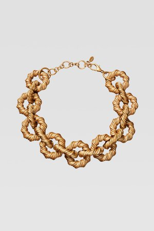 LIMITED EDITION EMBOSSED LINK NECKLACE - BEST SELLERS-WOMAN | ZARA United States gold