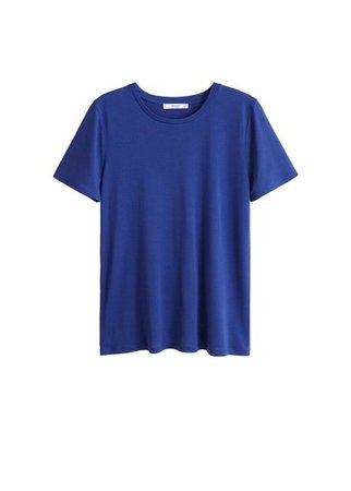 MANGO Soft fabric t-shirt
