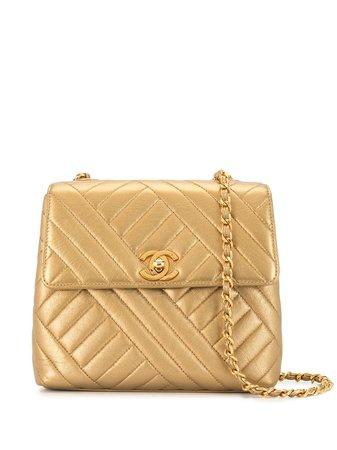 Chanel Pre-Owned 1992 Quilted Shoulder Bag Vintage   Farfetch.Com