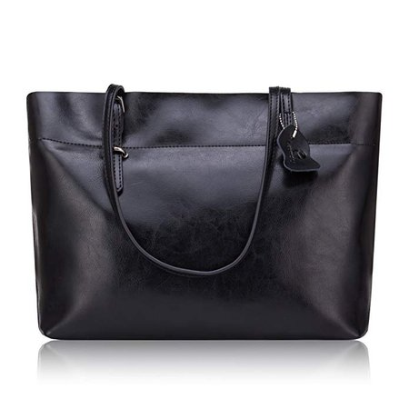 Lady Genuine Cowhide leather Shoulder Bag Handbag (black): Amazon.co.uk: Shoes & Bags