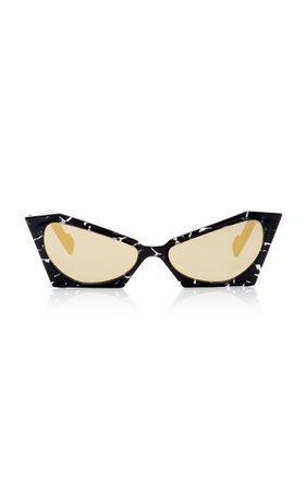 PAWAKA Empatbellas Cat-Eye Marbled Acetate sunglasses