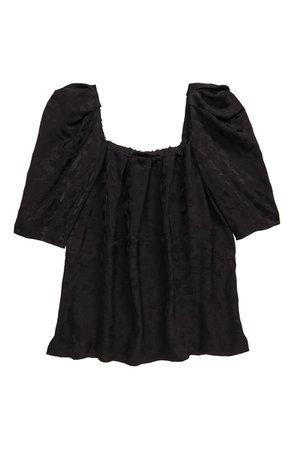 Rachel Comey Capa Floral Puff Sleeve Top | Nordstrom