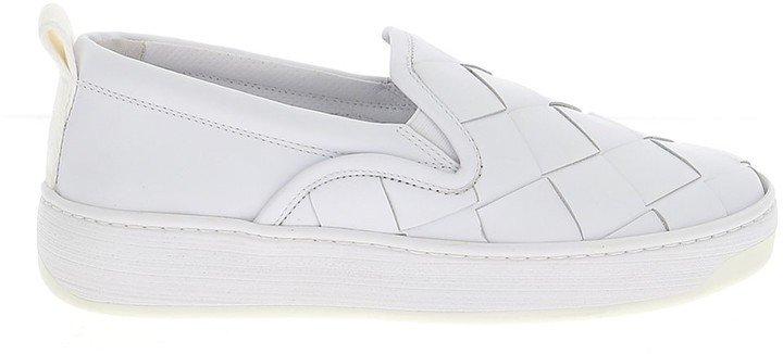 Woven Detail Slip-On Sneakers