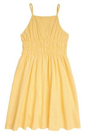 Treasure & Bond Smocked Linen Blend Sundress (Big Girl)   Nordstrom