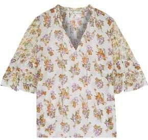 Julius Floral-print Cotton And Silk-blend Blouse