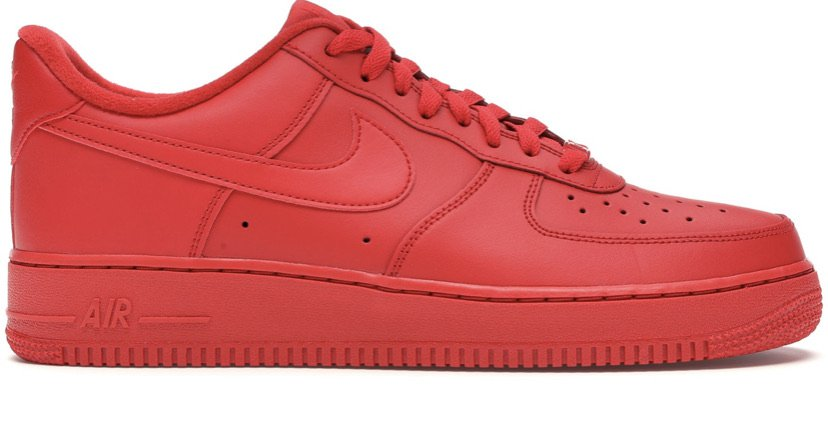 red Air Force 1's