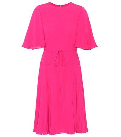 Silk-crêpe dress