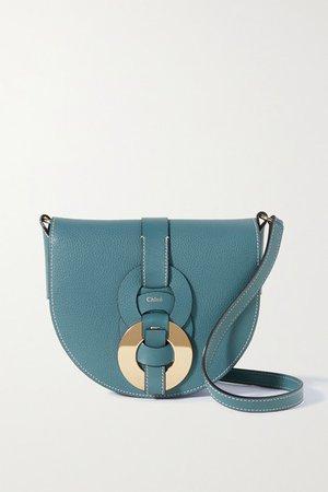 Darryl Small Textured-leather Shoulder Bag - Blue
