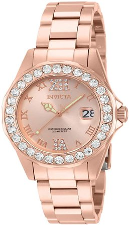 Invicta Women's 15253 Pro Diver Rose Gold Ion-Plated Stainless Steel Watch: Invicta: Watches