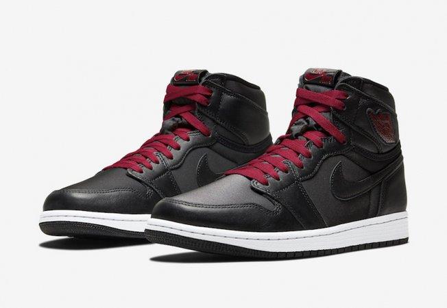 Air Jordan 1 Retro High OG Black Metallic Silver Gym Red - KicksOnFire.com