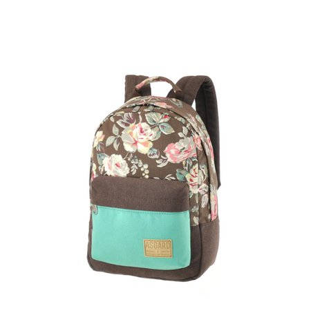 roses canvas backpack