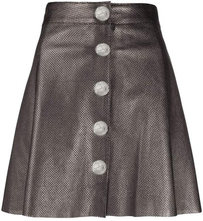 Manokhi Metallic Perforated Skirt