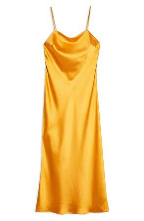 Topshop Square Neck Slipdress Yellow