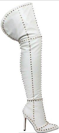 thigh high spike boot