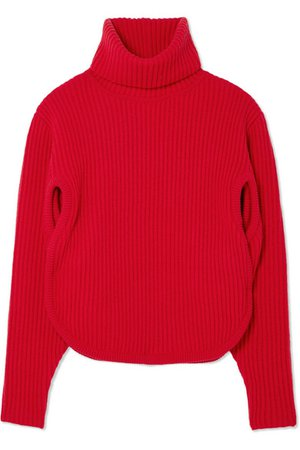 Antonio Berardi | Cutout ribbed wool and cashmere-blend turtleneck sweater | NET-A-PORTER.COM