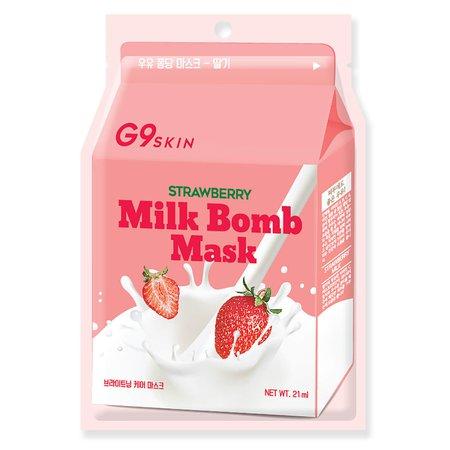 G9SKIN Milk Bomb Mask - Strawberry 21ml | Free Shipping | Lookfantastic