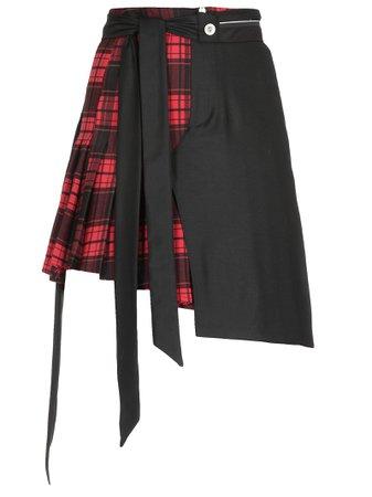 Ben Taverniti Unravel Project Check Patterned Skirt