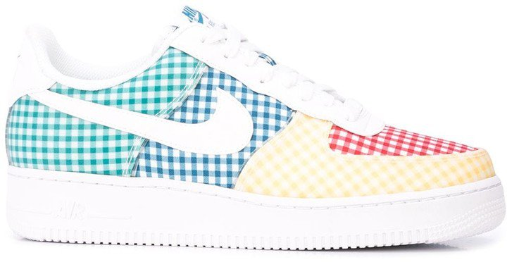 Force 1 gingham sneakers