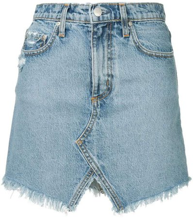 Nobody Denim distressed mini skirt