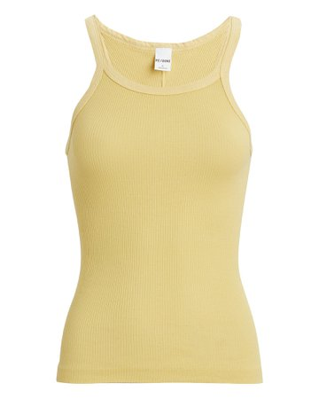 RE/DONE Ribbed Cotton Tank | INTERMIX®