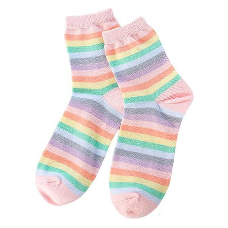 Pastel Rainbow Socks – Boogzel Apparel