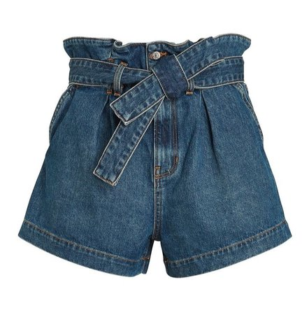 Nori Paperbag Denim Shorts