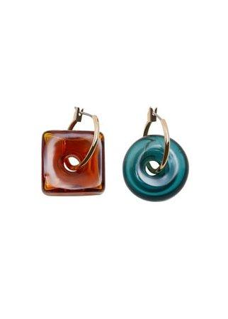 MANGO Pendant crystals earrings
