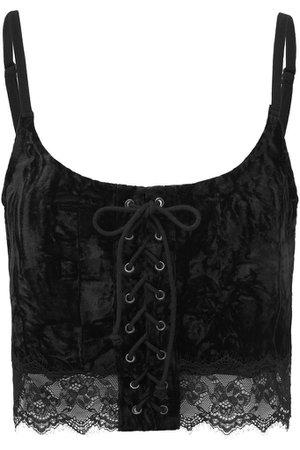 Dahlia Vest Top [BLACK] - Shop Now | KILLSTAR.com | KILLSTAR - UK Store