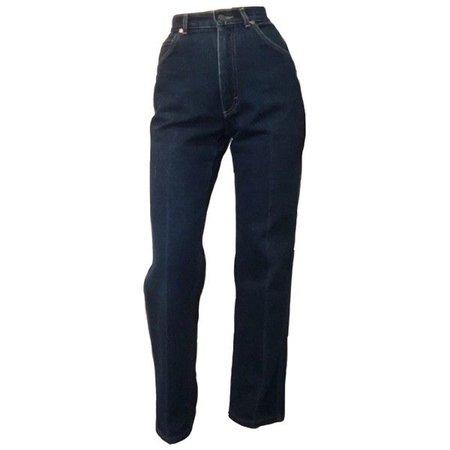 High-Waisted Dark Jeans
