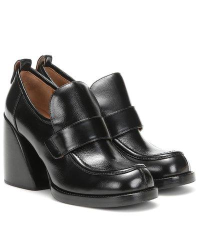 Wave Leather Loafer Pumps   Chloé - Mytheresa