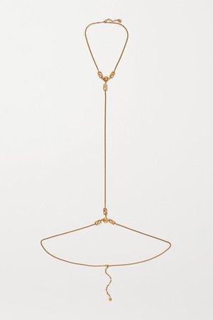 Versace   Gold-tone body chain   NET-A-PORTER.COM
