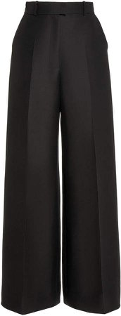 Martin Grant Wool-Silk Wide-Leg Pants