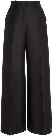 Martin Grant Wool-Silk Wide-Leg Pants