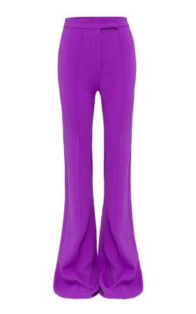 Rene Stretch Crepe Flared Trousers by Alex Perry | Moda Operandi