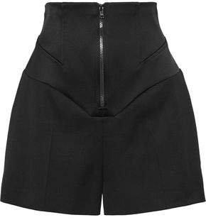 Corset Duchesse Satin-paneled Wool Shorts