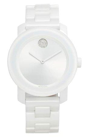Movado Bold Ceramic Bracelet Watch, 36mm | Nordstrom