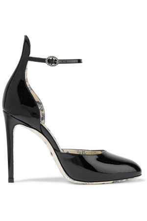 Gucci | Daisy patent-leather pumps | NET-A-PORTER.COM