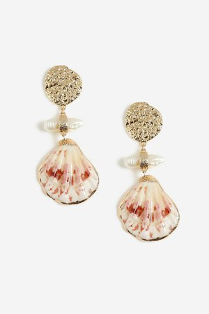 **Shell Drop Earrings | Topshop
