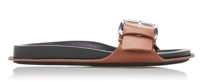 Marni Silver-Toned Buckle Slides Size: 35.5