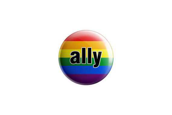ally pride button LGBT button LGBT ally magnet 1.25