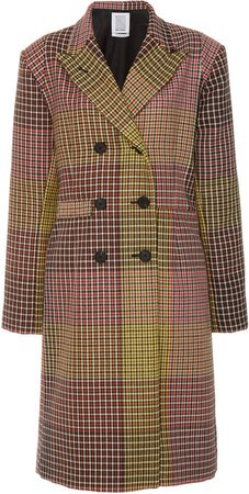 Collared Double-Breasted Wool Coat