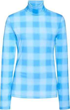 White Label Printed Cotton Jersey Turtleneck Top