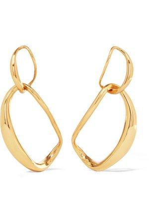 Dinosaur Designs | Louise Olsen Large Liquid Chain gold-plated earrings | NET-A-PORTER.COM