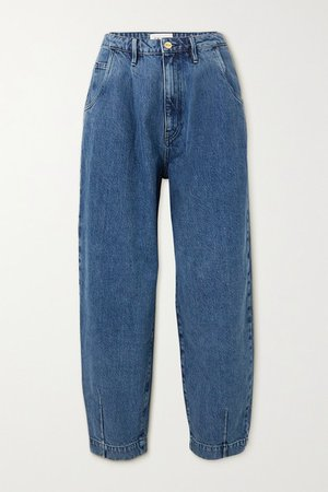 Barrel High-rise Tapered Jeans - Mid denim
