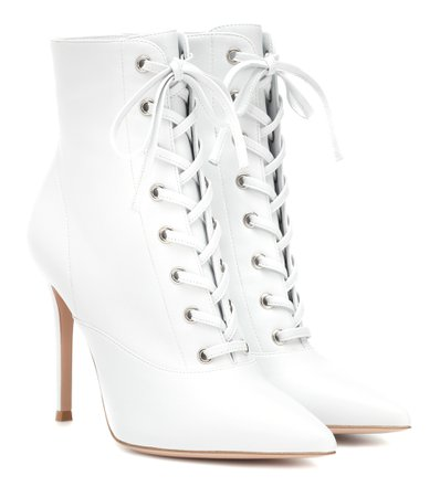 Gianvito Rossi Lace-Up Leather Ankle Boots