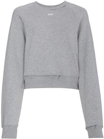 cropped cutout sweatshirt