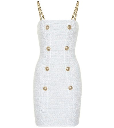 Exclusive to Mytheresa – Metallic bouclé minidress