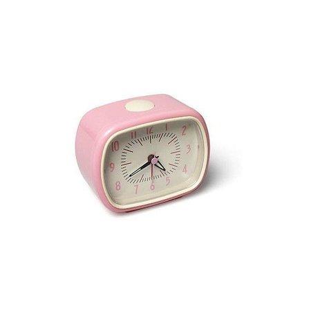 pink alarm clock