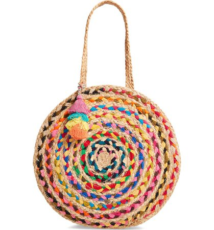 Shiraleah Mirabel Woven Jute Round Tote | Nordstrom