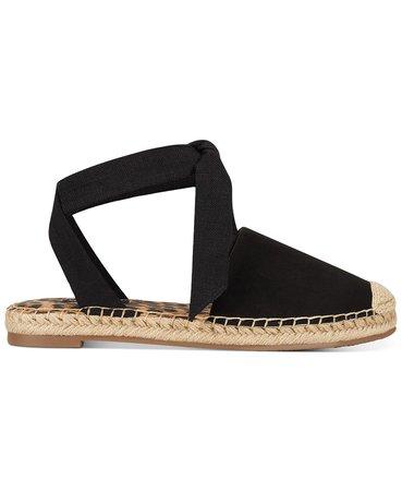 Nine West More Ankle-Tie Espadrille Flats & Reviews - Sandals & Flip Flops - Shoes - Macy's